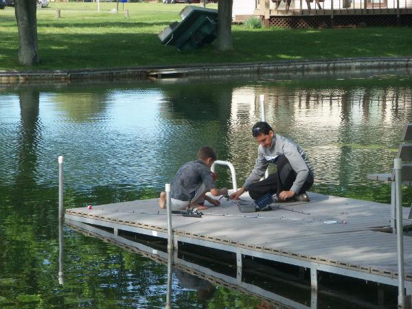 Prelude to fishing